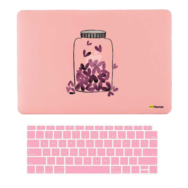 "Love Jar Pink MacBook Air 13"" Retina Cover & Keyboard Guard-Hamee India"