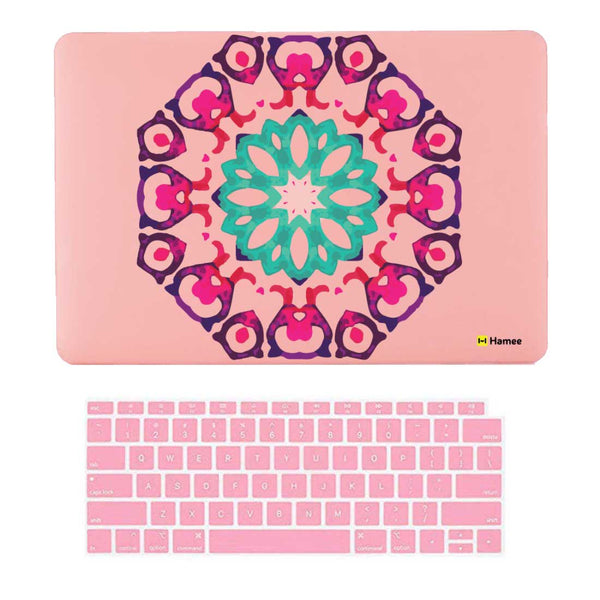 "Hexagon Pink MacBook Air 13"" Retina Cover & Keyboard Guard-Hamee India"