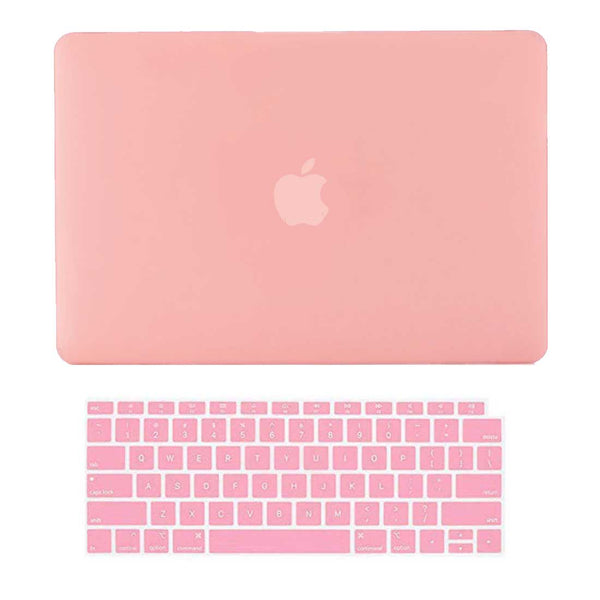 "Plain Pink MacBook Air 13"" Retina Cover & Keyboard Guard-Hamee India"