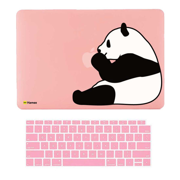 "Panda Pink MacBook Air 13"" Retina Cover & Keyboard Guard-Hamee India"