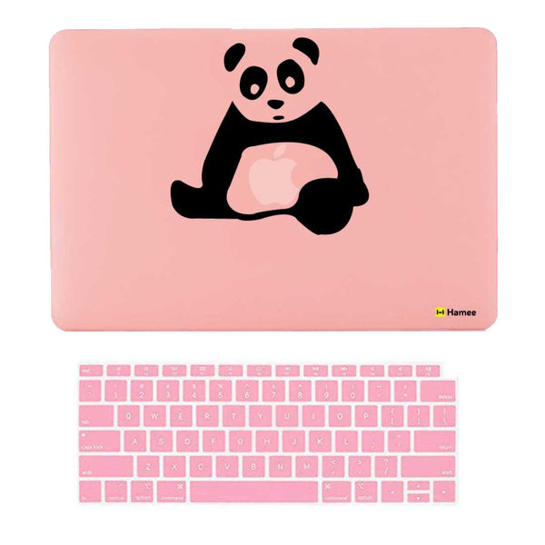 "Sitting Panda Pink MacBook Air 13"" Retina Cover & Keyboard Guard-Hamee India"