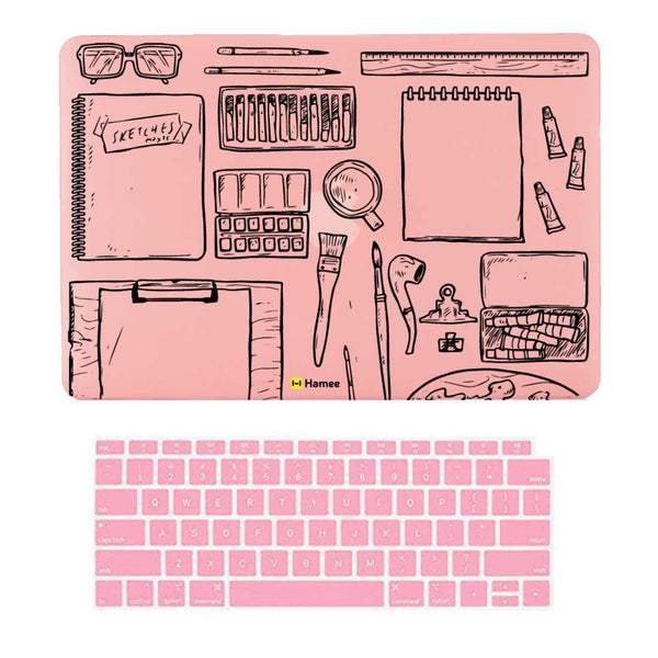 "Desk Pink MacBook Air 13"" Retina Cover & Keyboard Guard-Hamee India"