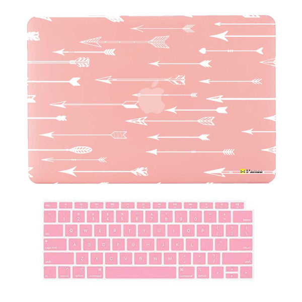 "Arrow Pink MacBook Air 13"" Retina Cover & Keyboard Guard-Hamee India"