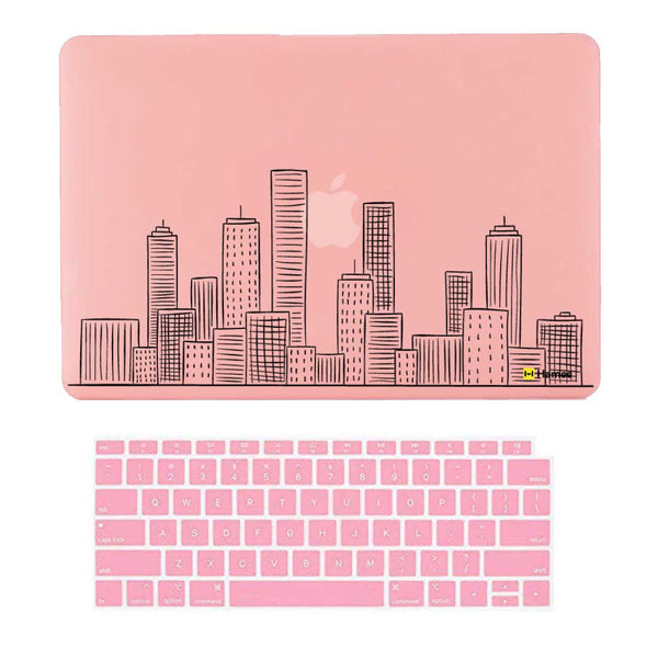 "City Pink MacBook Air 13"" Retina Cover & Keyboard Guard-Hamee India"