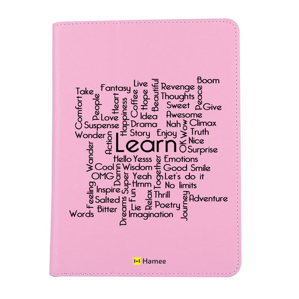 "Learn - iPad 9.7"" Folio Case Stand (Pink)"