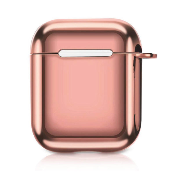 Metallic TPU Airpods Case - Pink-Hamee India