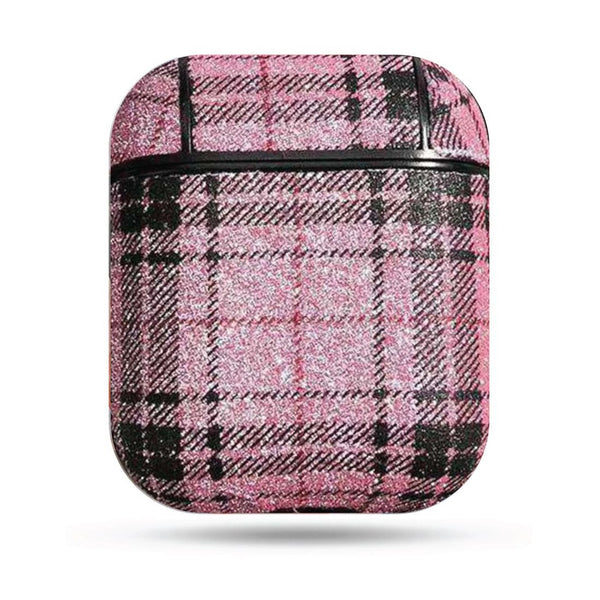 Plaid Airpods Case - Pink
