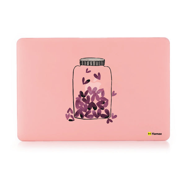 "Love Jar - Pastel Pink - Matte Finish Shell Case for Apple Macbook Air 13""-Hamee India"
