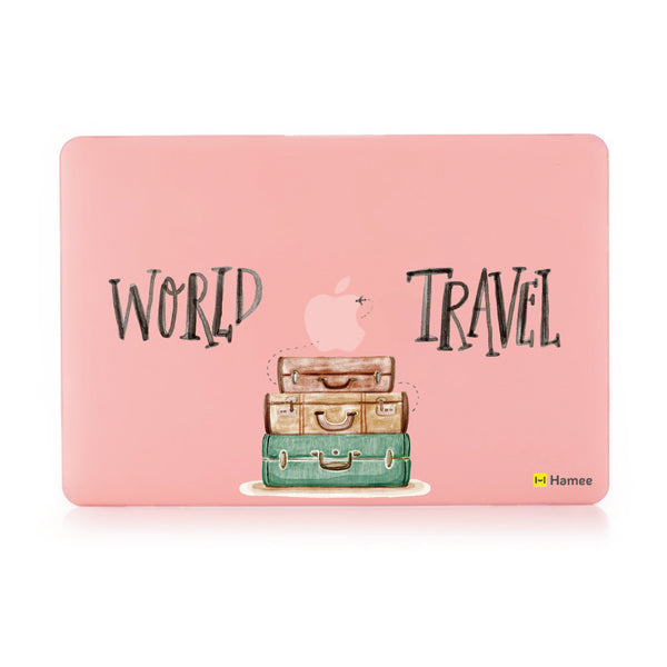 "World Travel - Pastel Pink MacBook Air 13"" Cover-Hamee India"