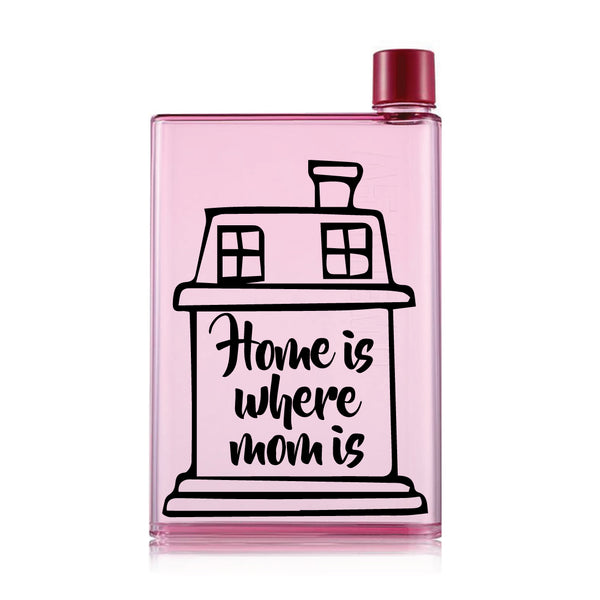 Mother's day Pink Water Bottle (420 ml)- Home is Where Mom is-Hamee India
