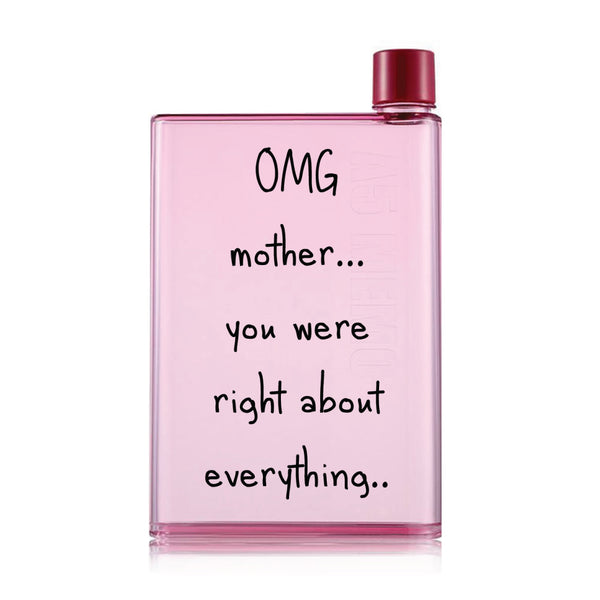 Mother's day Pink Water Bottle (420 ml)- Mom is Right-Hamee India