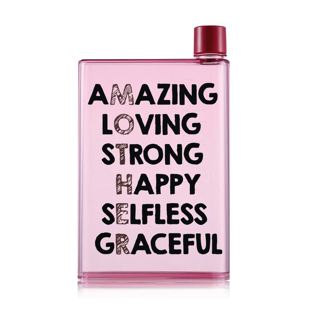 Mother's day Pink Water Bottle (420 ml)- Amazing Mom-Hamee India
