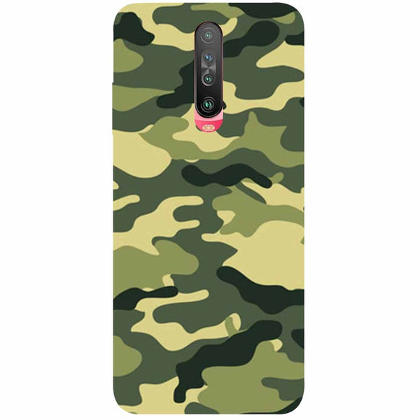 Green Camouflage Poco X2 Back Cover