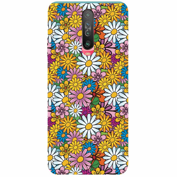 Colourful Flowers Poco X2 Back Cover