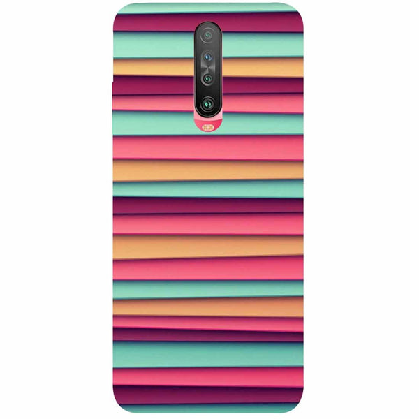 Colourful Stripes Poco X2 Back Cover