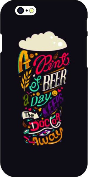 "Hamee Back Cover for Oppo F1 "" Beer a Day Keeps Doctor Away "" - Hamee India"