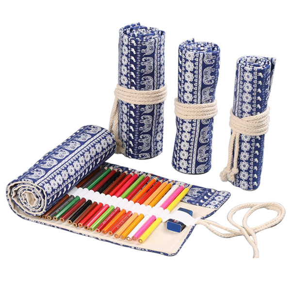 Ethnic Canvas Pencil Wrap Case-Hamee India