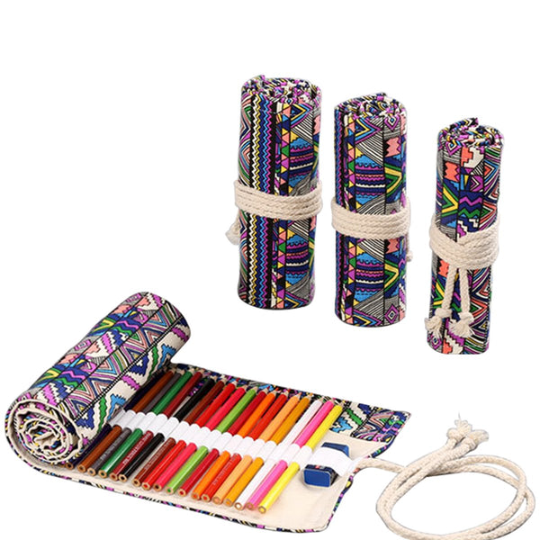 Tribal Canvas Pencil Wrap Case-Hamee India