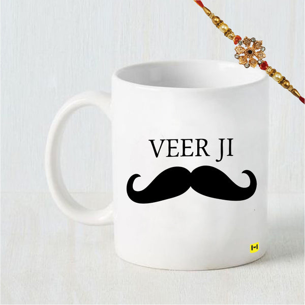 Veer Ji - Coffee Mug and Rakhi Combo-Hamee India