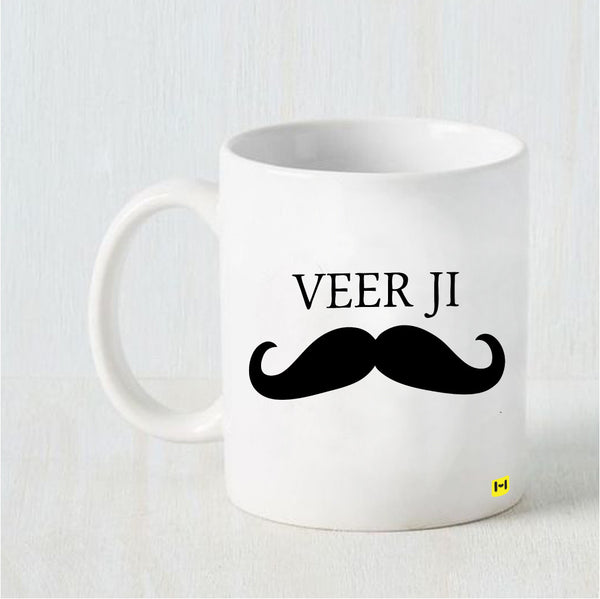 Veer JI - Raksha Bandhan White Coffee Mug-Hamee India