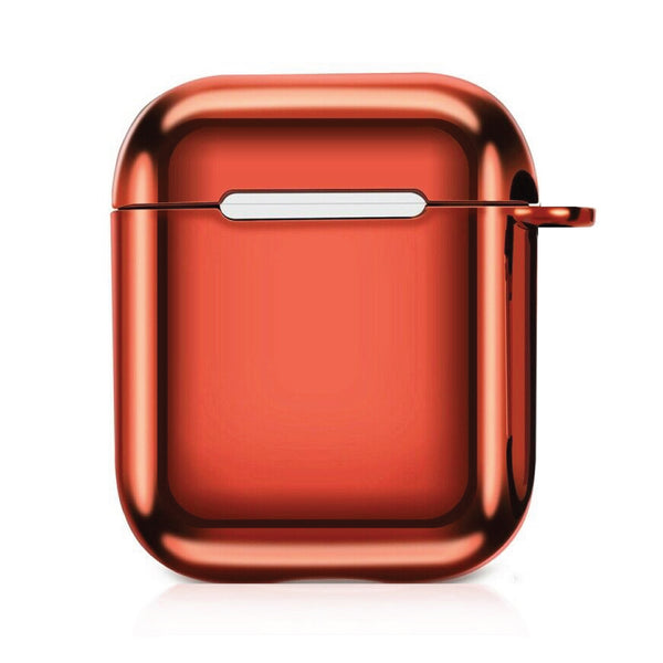 Metallic TPU Airpods Case - Red-Hamee India