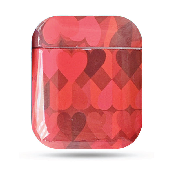Hard Glossy Airpods Case - Red Hearts-Hamee India