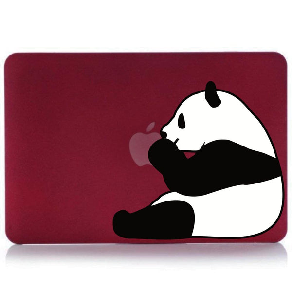 "Hamee - Panda - Matte Finish Slim Fit Shell Case for Apple Macbook Air 13"" (Wine Red)-Hamee India"