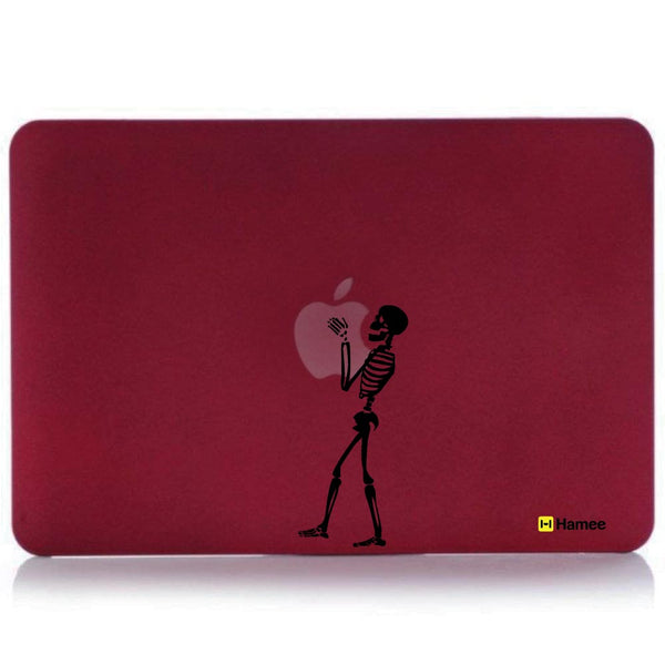 "Skull Wine Red MacBook Air 13"" Cover-Hamee India"