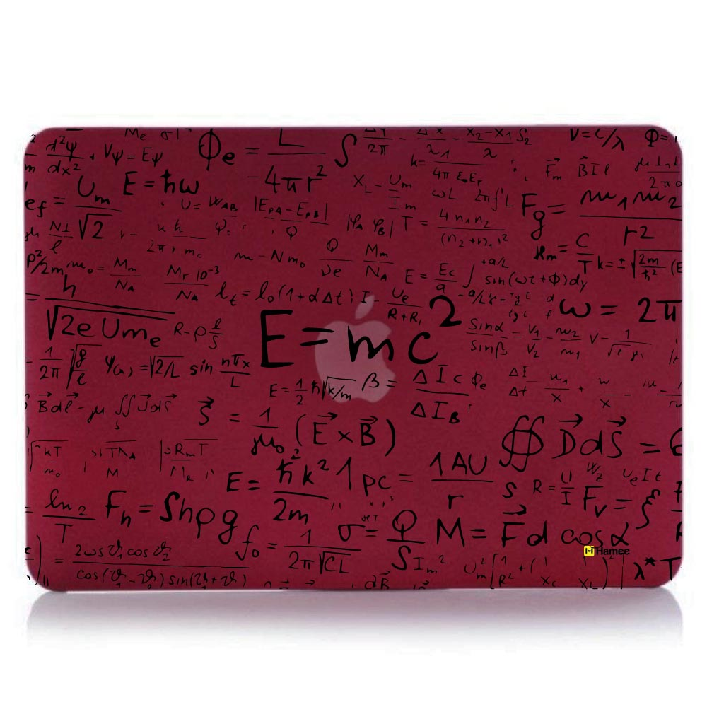 "E=mc2 Wine Red MacBook Air 13"" Cover-Hamee India"