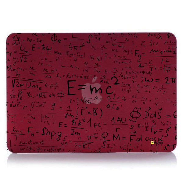 "Hamee - E=mc2 - Matte Finish Slim Fit Shell Case for Apple Macbook Air 13"" (Wine Red)-Hamee India"