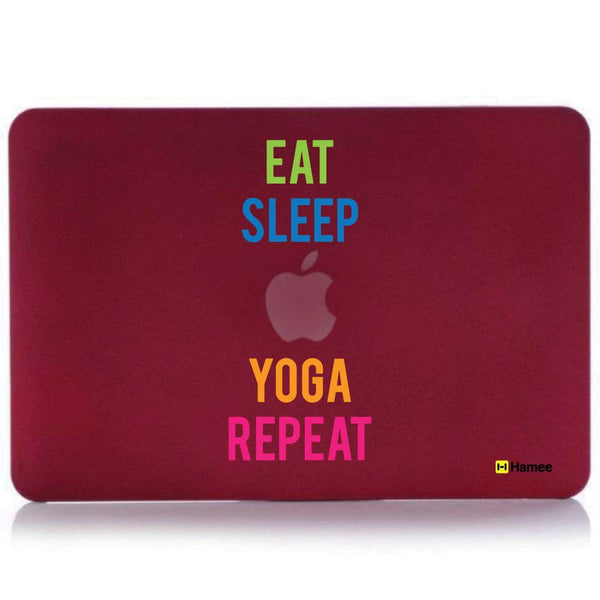 Eat Sleep Repeat MacBook Pro 13 Cover (2016) (A1706/A1708) (Wine Red)-Hamee India