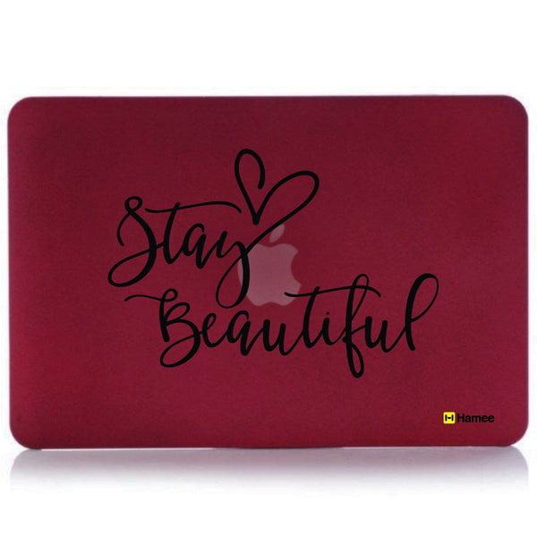 "Stay Beautiful Wine Red MacBook Air 13"" Cover-Hamee India"