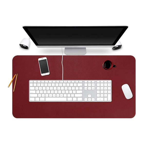 Red - XXL Leather Mouse Pad / Desk Pad