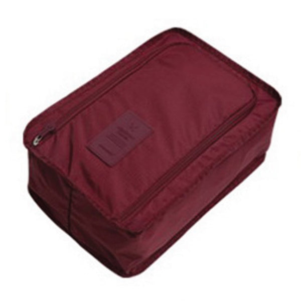 Travel Shoe Bag - Wine Red-Hamee India