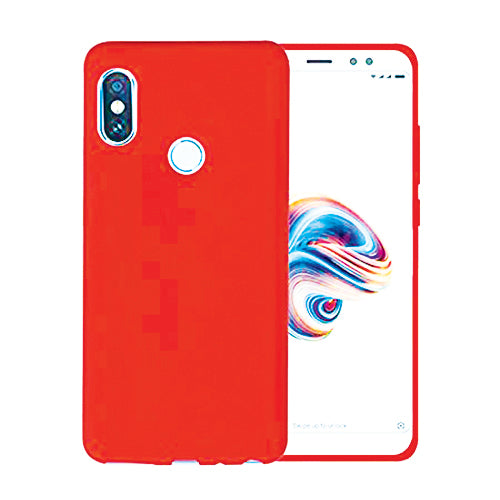 Red Soft TPU Redmi Note 5 Pro Back Cover-Hamee India