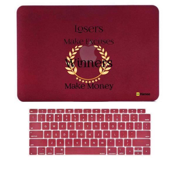 "Winners Wine Red MacBook Air 13"" Retina Cover & Keyboard Guard-Hamee India"