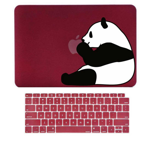 "Panda Wine Red MacBook Air 13"" Retina Cover & Keyboard Guard-Hamee India"