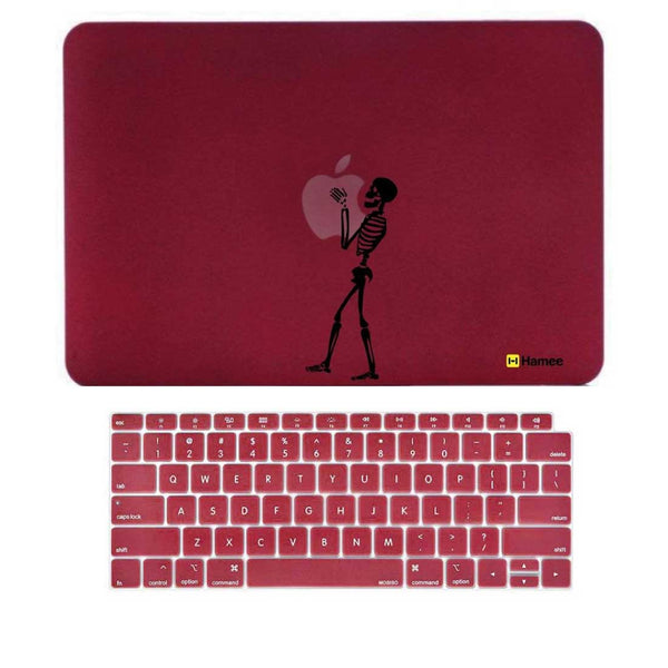 "Skeleton Wine Red MacBook Air 13"" Retina Cover & Keyboard Guard-Hamee India"