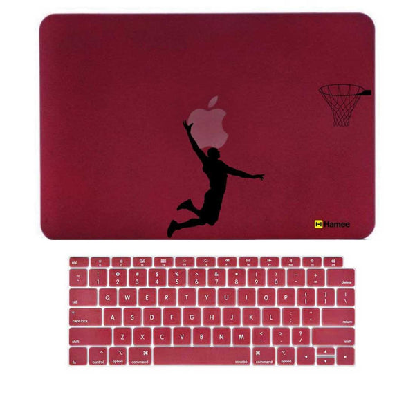 "Basketball Wine Red MacBook Air 13"" Retina Cover & Keyboard Guard-Hamee India"