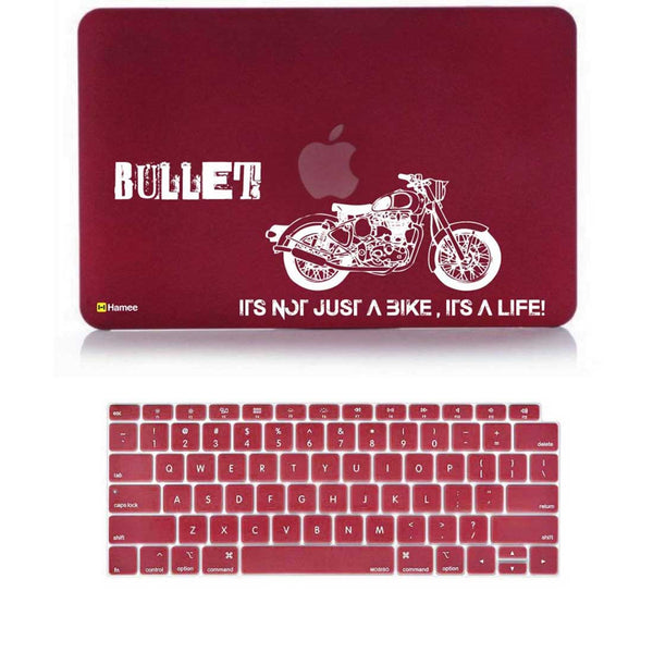 "Bullet Wine Red MacBook Air 13"" Retina Cover & Keyboard Guard-Hamee India"