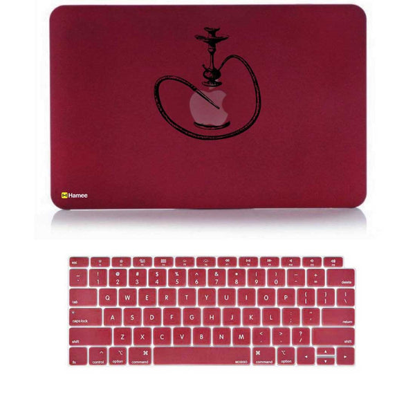 "Hookah Wine Red MacBook Air 13"" Retina Cover & Keyboard Guard-Hamee India"