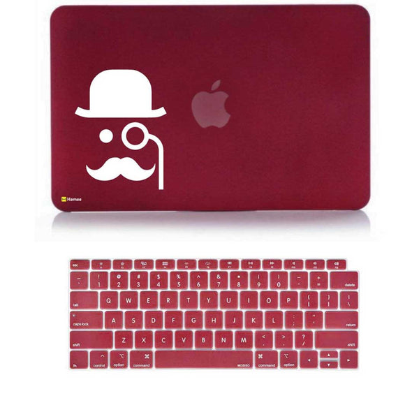 "Man Wine Red MacBook Air 13"" Retina Cover & Keyboard Guard-Hamee India"