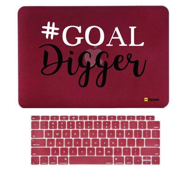 "Goal Wine Red MacBook Air 13"" Retina Cover & Keyboard Guard-Hamee India"