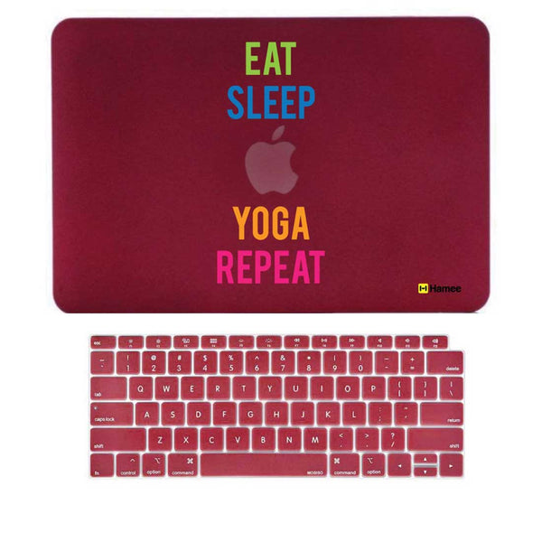 "Yoga Wine Red MacBook Air 13"" Retina Cover & Keyboard Guard-Hamee India"