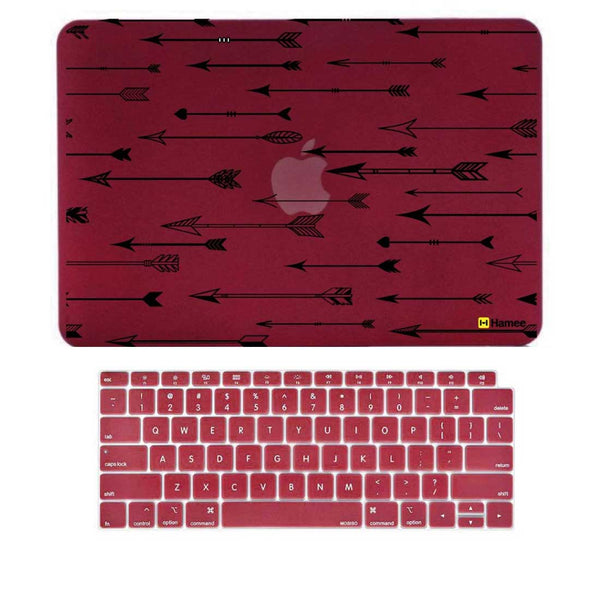 "Arrows Wine Red MacBook Air 13"" Retina Cover & Keyboard Guard-Hamee India"