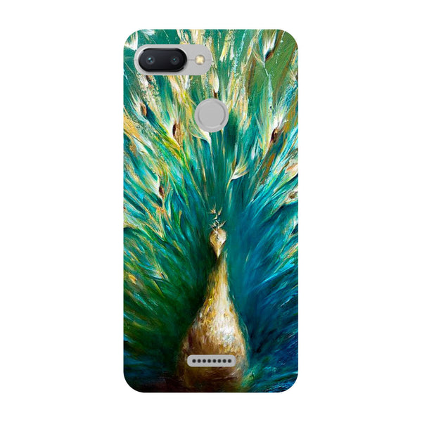 Peacock Paint Redmi 6 Back Cover-Hamee India
