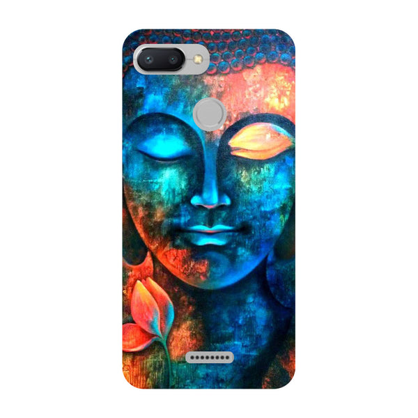 Serene Buddha Redmi 6 Back Cover-Hamee India