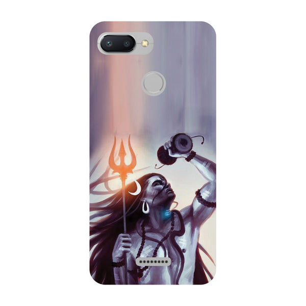 Purple Shiva Redmi 6 Back Cover-Hamee India