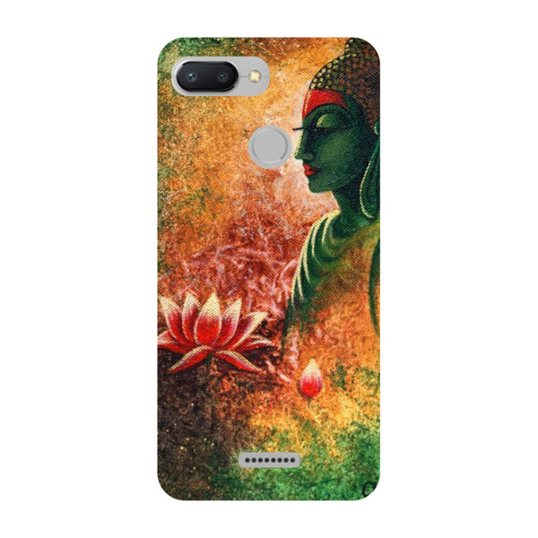 Side Buddha Redmi 6 Back Cover-Hamee India