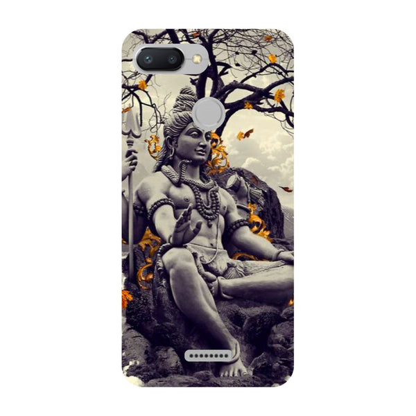 Gray Shiva Redmi 6 Back Cover-Hamee India